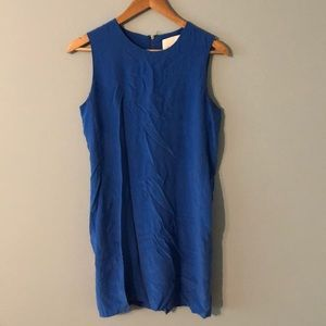 Cynthia Rowley silk dress royal blue *flaws* sz 6